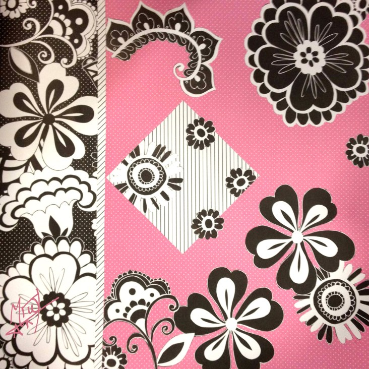 Scrapbook paper flowers.