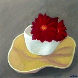 Red Flower in a Cup