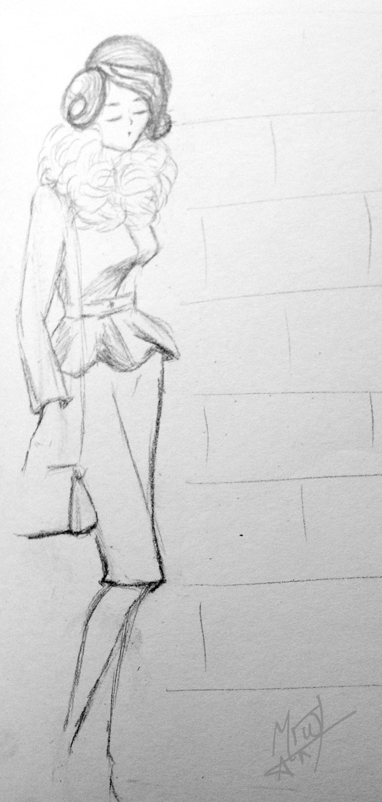Classy Lady Fashion Drawing