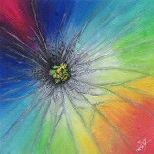 Acrylic Rainbow Flower