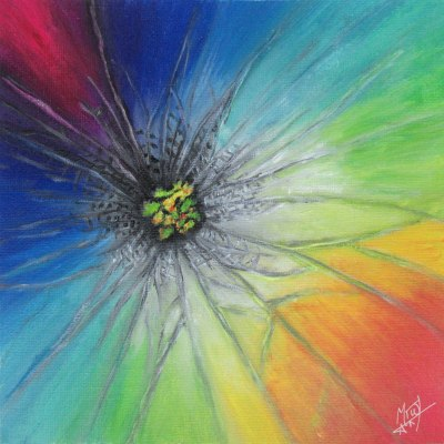 Acrylic Rainbow Flower