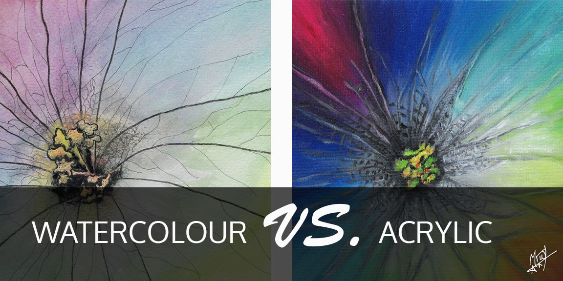 Watercolour Vs. Acrylic paint