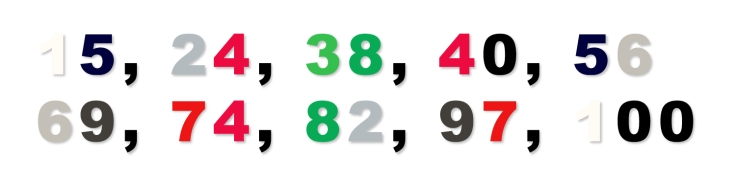 Selection of Numbers