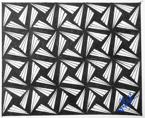 Triangle Square Tile Pattern