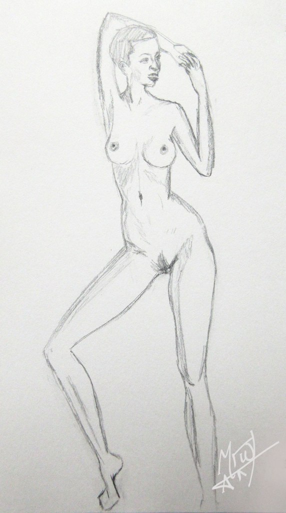 Croquis Cafe Figure Standing